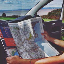 Map Camper Van
