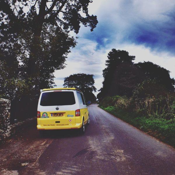 VW camper open road