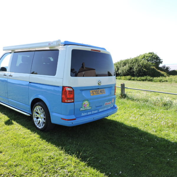 Blue campervan hire