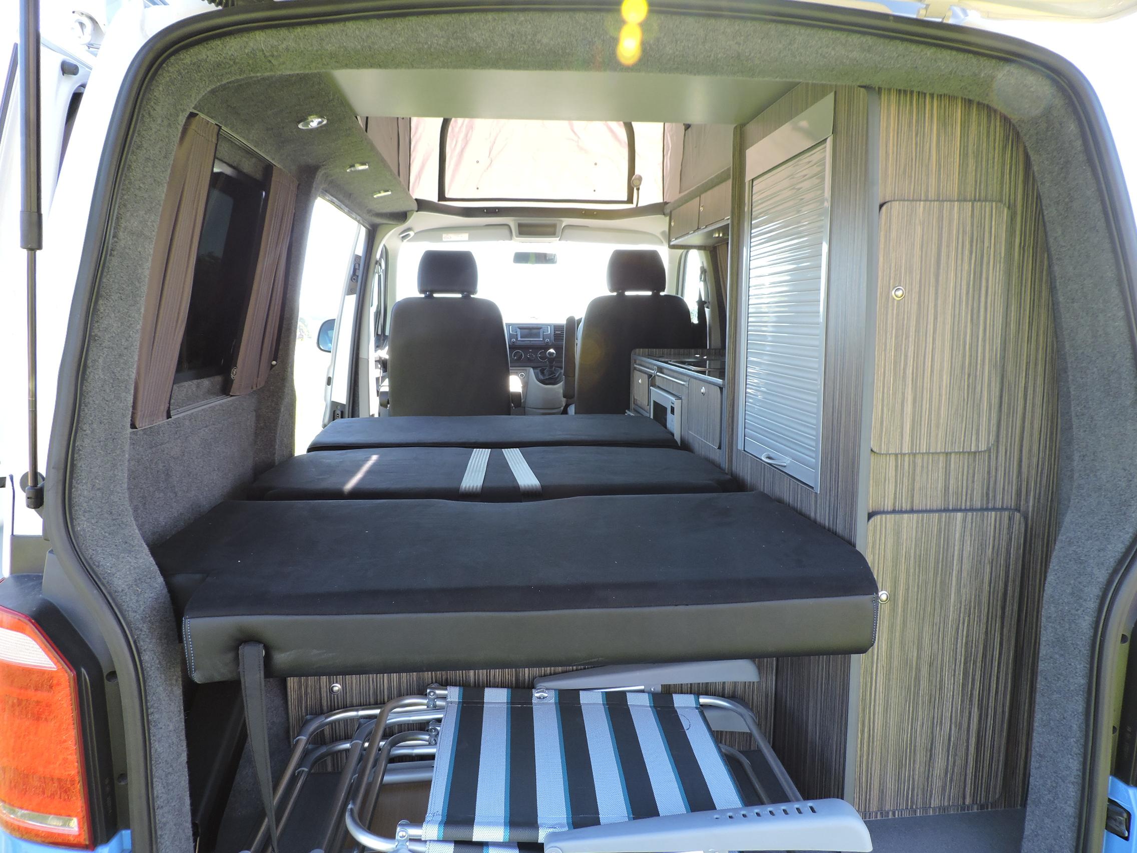 Campervan double bed
