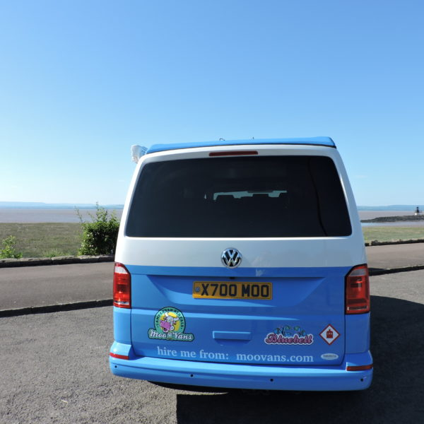 Blue campervan hire Portishead