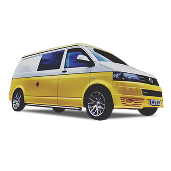 Yellow VW camper hire