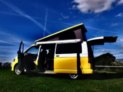 Hire yellow campervan
