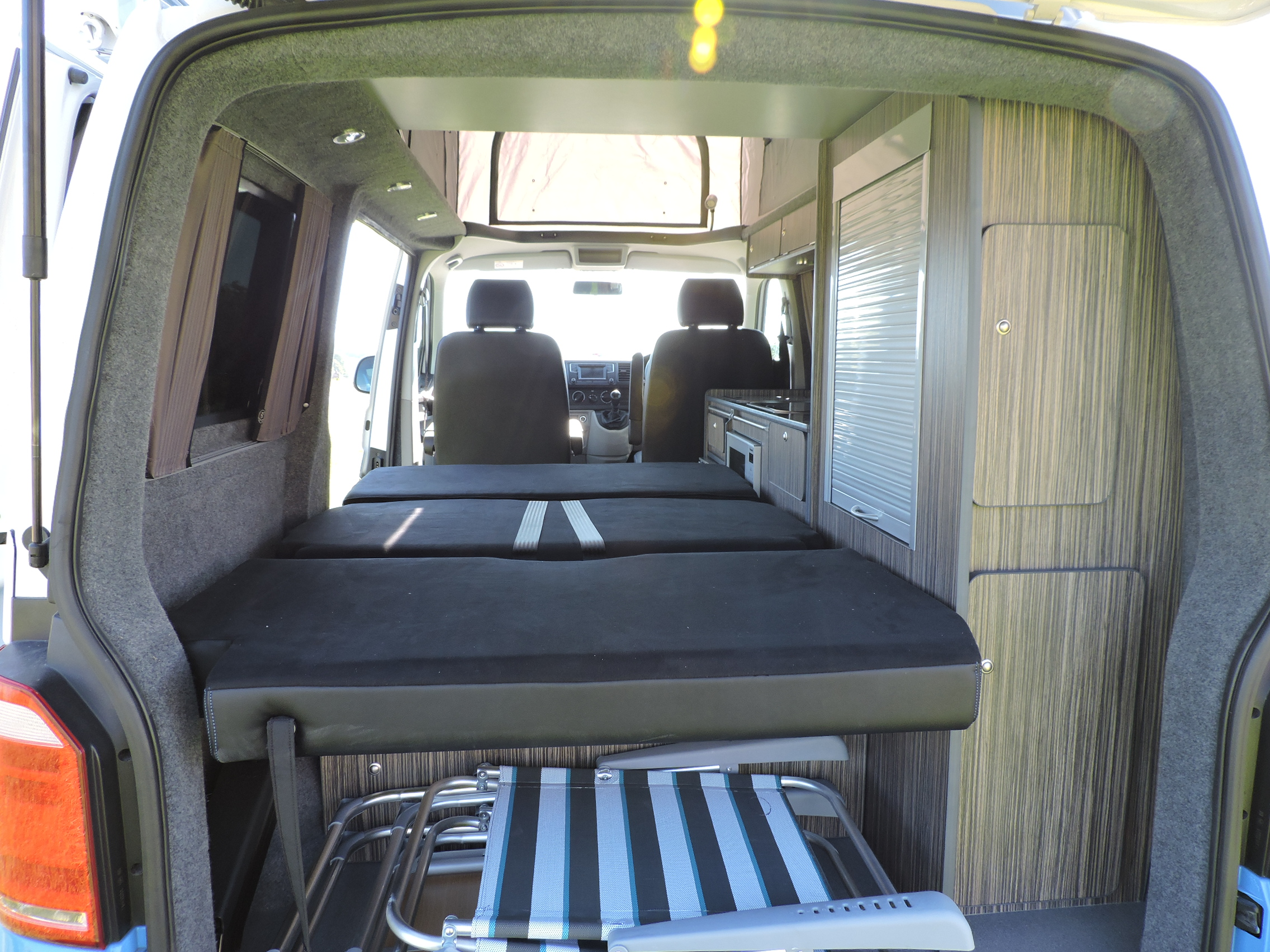 Campervan double bed