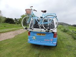 Bristol Campervan for hire with bike rack